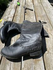 Corral indie Spirit By The buckle Tall Black Leather Boots 10M