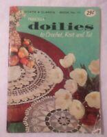 Vtg. Coats & Clark PRISCILLA DOILIES Crochet Pattern Book #111 1959