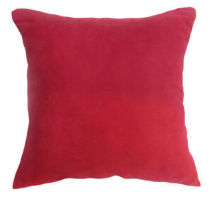 Mg07a Red Soft Faux Leather Micro Suede Cushion Cover/Pillow Case*Custom Size*