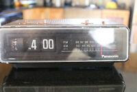 Panasonic RC-6035  Vintage Flip Clock Radio  ~ Radio Works ~  Clock is Broken ~
