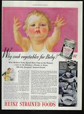 HEINZ strained food vegetable soup baby art image 185 1935 Vintage Print Ad