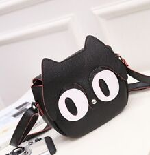 Black Kitty Bag Shoulder Crossbody PU Leather Cute Girls Korean Style