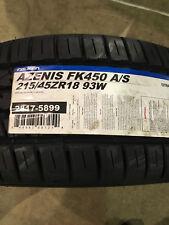 1 New 215 45 18 Falken Azenis FK450 A/S Tire