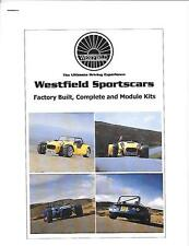 WESTFIELD sportscars Kit Car Parts e i prezzi BROCHURE per il 2010 NOVEMBRE 2009