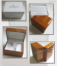 Uhrenbox für 1 Armbanduhr aus Holz von JAQUES RICHAL #472 Kästchen Box Schachtel