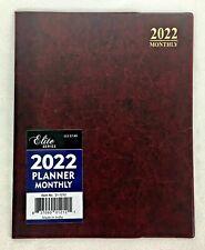 2022 Monthly Planner Desk Calendar Agenda Appointment Book Burgundy 8x10