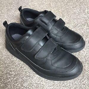New Ex-Display Ricosta Kids Boys Black Leather Strap Smart School Shoes