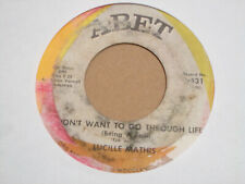"""LUCILLE MATHIS Somewhere Out There SOUL Funk 7"""" HEAR Abet"""