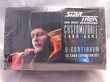 Star Trek CCG Q Continuum OVP Booster Verpackung