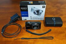 Sony Cyber-shot DSC-WX100 18.2MP Digital Camera - Memory Card, Battery, and Case