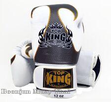 NWT TOP KING Boxing gloves White TKBGEM Empower Creativity Muay Thai MMA Gloves