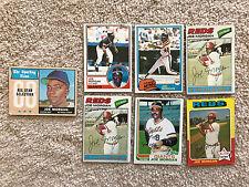 Lot of 7 Joe Morgan Baseball Cards - 60s 70s and 80s