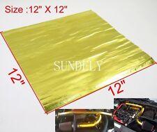 Sundely Gold Reflective Tape Car Firewall Heat Shield Barrier 12'' x 12''