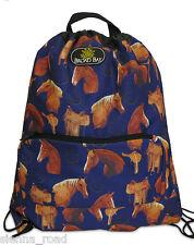 Saddle Up Horse Print Cinch Bag / Drawstring Bag / Library Bag