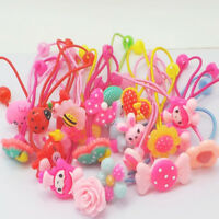 10pcs Children Elastic Hair Band Headbands Candy Color Ropes Girls Headwear TR
