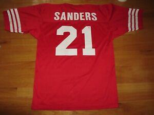 Vintage Champion Label DEION SANDERS No. 21 SAN FRANCISCO 49ers (Size 44) Jersey