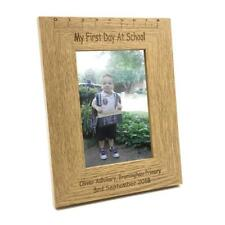 Personalised Engraved My First Day Of School Wooden Photo Frame Keepsake FW140