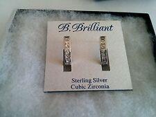 B. Brilliant Sterling Silver Hoop Earrings