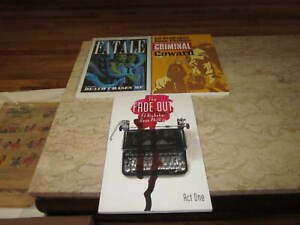 Image Graphic Novel Brubaker/Phillips Crime Lot (3 books) All Volume 1's
