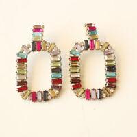 New Baublebar Acrylic Square Drop Earrings Best Gift Vintage Women Party Jewelry