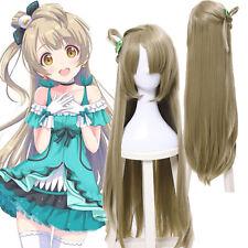 USA SHIP LoveLive! Minami Kotori Long Straight Ponytail Flaxen Cosplay Full Wigs