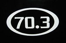 """70.3 Decal Sticker Half Ironman Triathlon *NEW Design 3.5"""""""