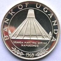 Uganda 1969 Martyrs's Shrine 10 Shillings Silver Coin,Proof
