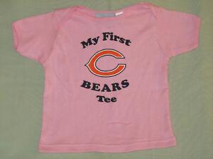 NEW CHICAGO BEARS PINK T SHIRT 24 MO MY 1ST BEARS TEE