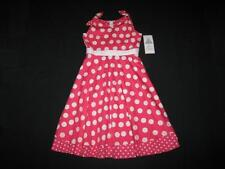"""NEW """"CORAL CIRCLE DOTS"""" Dress Girls Clothes 7 Spring Summer Boutique Kids Teen"""