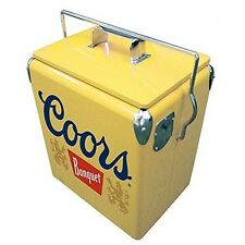 Koolatron CBVIC-13 Coors 13 L Retro Vintage Banquet Ice Chest In Yellow New