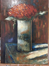 Tulip Bouquet Oil Painting Vase with Tulips Original Flower painting