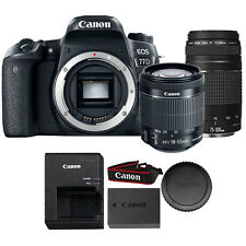 Canon EOS 77D 24.2MP DSLR Camera with Canon 18-55mm IS STM Lens + 75-300mm Lens