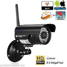Outdoor 1080P HD 2.0 MP Wireless WiFi Network CCTV Security IP Camera IR Night