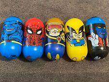 MARVEL Mighty Beanz 2003 Lot(5) Nightcrawler Wolverine Cyclops Spider-Man Beast