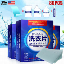 80 x Laundry Detergent Nano Super Concentrated Washing Soap Gentle Powder Sheets