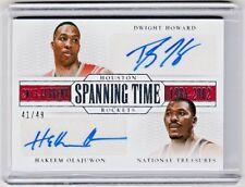 Hakeem Olajuwon & Dwight Howard National Treasures Dual Autograph AUTO *ROCKETS*