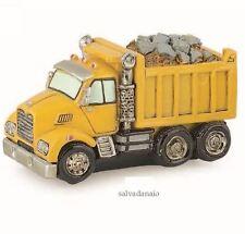 bomboniera Camion giallo resina salvadanaio compleanno 160x90mm art 57832