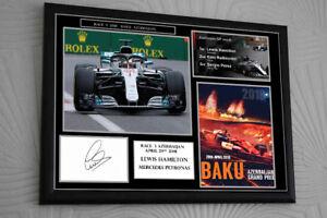 Lewis Hamilton F1 2018 Signed Framed Tribute