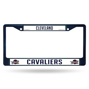 Cleveland Cavaliers NBA Licensed Blue Painted Chrome Metal License Plate Frame