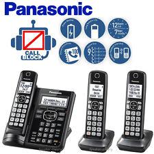 Panasonic Answering Machine 3 Cordless Handsets Call Block Talking ID KX-TGF543B