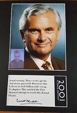 "Kenneth Kendall 1924 - 2012 2001 Newsreader 16"" x 12"" MOUNTED AUTOGRAPH"
