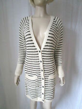 Monsoon Button V Neck Striped Jumpers & Cardigans for Women