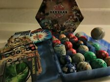 Bakugan Huge Lot Brawlers Cases Tin Cards Rules Vintage Action Toys