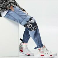 Men Slim Fit jeans Loose Pant Stretch Jeans Fashion Trouser Casual Pants Hip hop