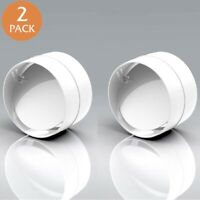 """Pack of 2 x 100 mm 4"""" Back Draft Draught Shutter Inline Extractor Fan Ducting"""