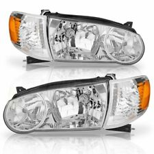 2001-2002 TOYOTA COROLLA HEADLIGHTS AND CORNER LAMPS 4PCS SET
