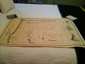 Major Tribal Trails of Oregon Map NW Cartographic Institute 1975