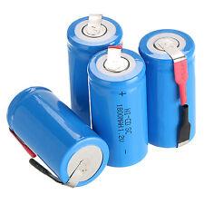NEUF 3 pcs Sub C SC 1.2V 1800mAh Ni-Cd NiCd Batterie rechargeable Bleu piles