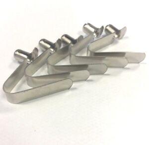 Stainless Steel Push 6mm Spring Snap Clip Locking Tube Pin For Gazebo