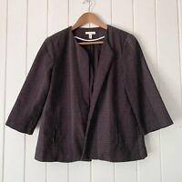 Eileen Fisher Jacket Small Black Organic Cotton Kurume Dash